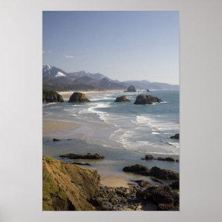 O, costa de Oregon, parque de estado de Ecola, vis Póster