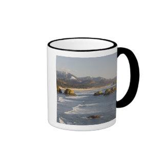 O, costa de Oregon, parque de estado de Ecola, vis Tazas De Café