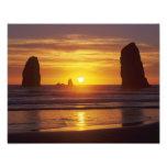 O, costa de Oregon, playa del cañón, seastacks en Foto