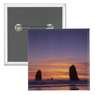 O, costa de Oregon, playa del cañón, seastacks en Pin Cuadrado