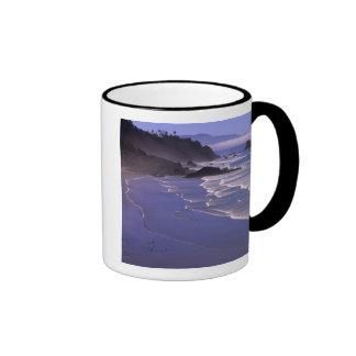 O, costa de Oregon, SP de Ecola, playa india con Taza De Café