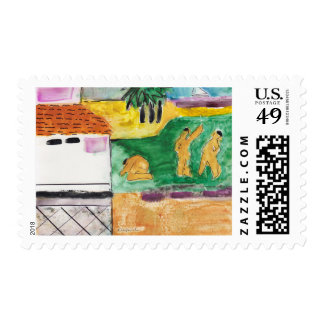 O Cozumel - Kay Cassill Painting US Postage