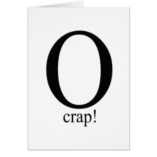 O crap greeting card