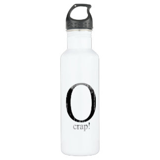 O crap Faded.png 24oz Water Bottle