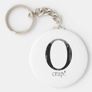 O crap Faded.png Keychain