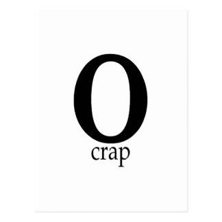 O Crap Postcard