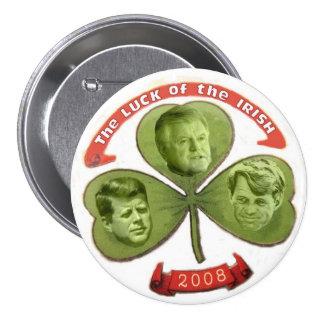 O de la suerte de Kennedy el botón irlandés Pin Redondo De 3 Pulgadas