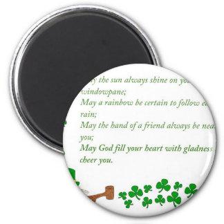 O de la suerte el irlandés imán redondo 5 cm
