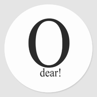 O dear classic round sticker