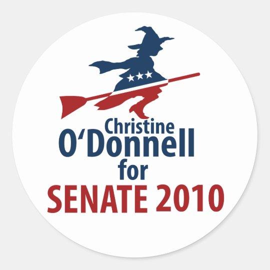 O'Donnell for Senate Classic Round Sticker