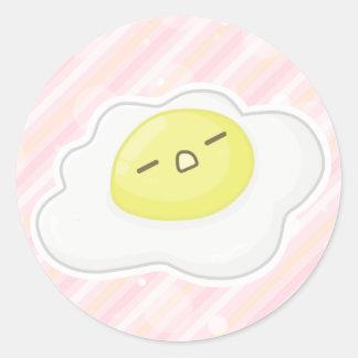 -o- egg classic round sticker
