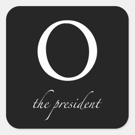 O el   el presidente pegatina