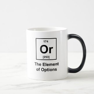 O, el elemento de opciones taza mágica