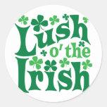 O enorme el irlandés etiquetas redondas