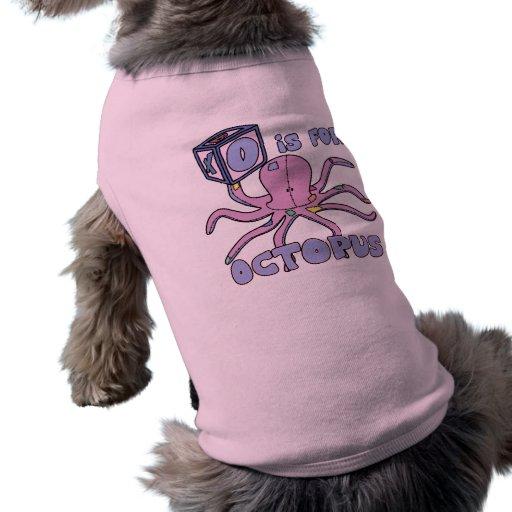 O está para la camisa del perro del pulpo ropa macota