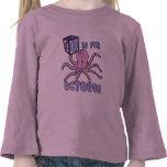 O está para la camiseta del niño del pulpo