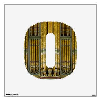 O está para la etiqueta de la pared del órgano