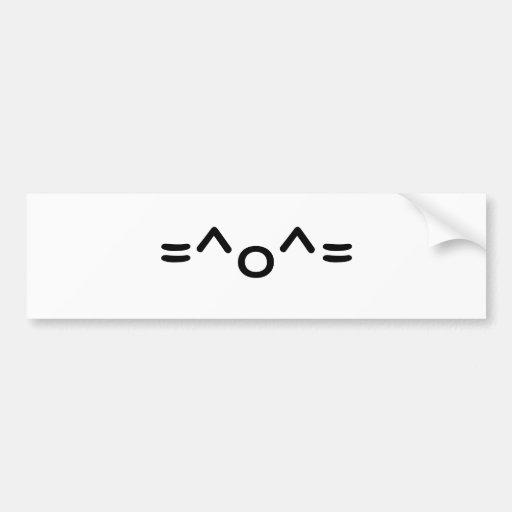 =^o^= etiqueta de parachoque