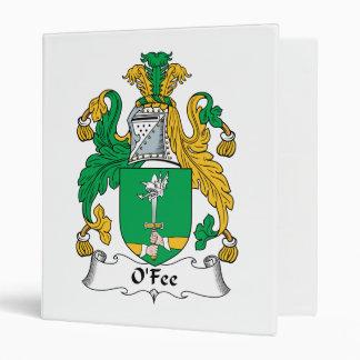 O Fee Family Crest Vinyl Binders