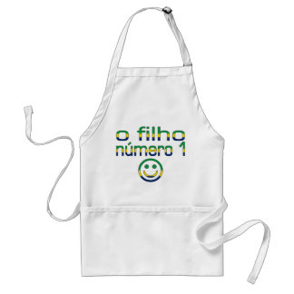 O Filho Número 1 - Number 1 Son in Brazilian Adult Apron