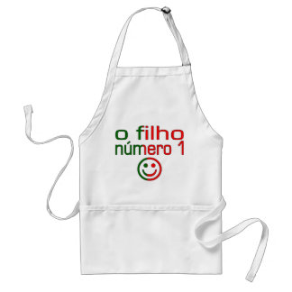 O Filho Número 1 - Number 1 Son in Portuguese Adult Apron