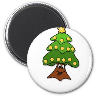 o fir tree 2 inch round magnet