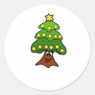 o fir tree classic round sticker