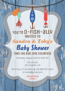 Fish invitations zazzle o fish ally fishing baby shower invitation filmwisefo