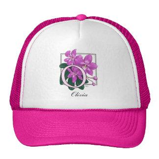 O for Orchids Flower Monogram Trucker Hat