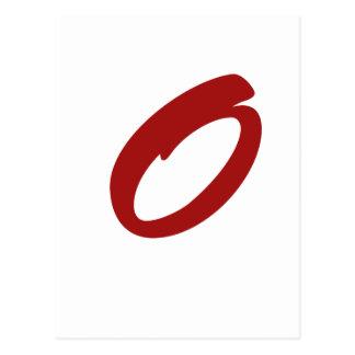 O For Original Postcard