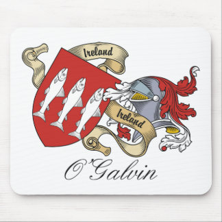 O Galvin Family Crest Mouse Mat