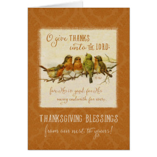 O Give Thanks For He Is Good - Thanksgiving Card