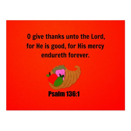 O Give Thanks Unto the Lord... Postcard