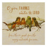 O Give Thanks Unto the Lord Poster