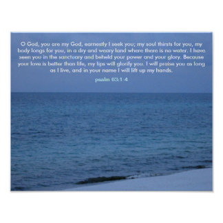 O God, you are my God Poster