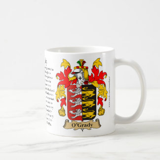 O'Grady, the Origin, the Meaning and the Crest Coffee Mug