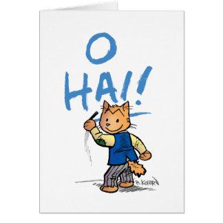 O Hai Greeting Card