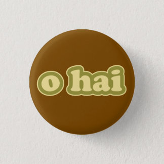 O HAI Lolcat Speak Flair Pinback Button