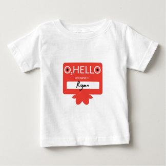 O hello, my name is Ryan Baby T-Shirt