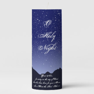O Holy Night 3x8 Pillar Candle
