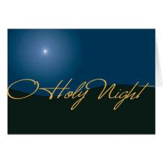 O Holy Night Card at Zazzle