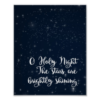 O Holy Night Christmas Art Poster