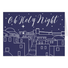 O Holy Night Christmas Religious Christian Card at Zazzle