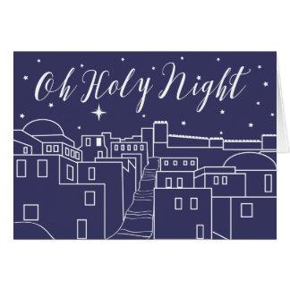O Holy Night Christmas Religious Christian Card