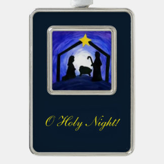 O Holy Night - ornaments Silver Plated Framed Ornament