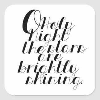O Holy Night | Square Stickers