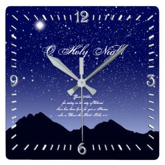 O Holy Night Square Wall Clock