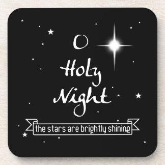 O Holy Night Starry Christmas Drinks Coaster Set