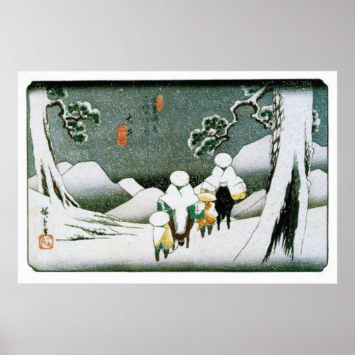Ōi, por Utagawa Hiroshige Póster