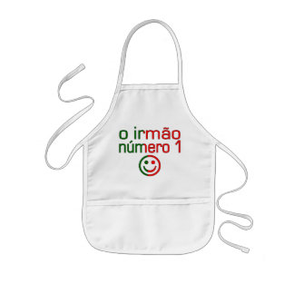 O Irmão Número 1 - Number 1 Brother in Portuguese Kids' Apron